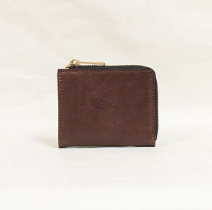 Tochigi Leather Fastener Compact Wallet Cow Leather Men's Ladies Brown
