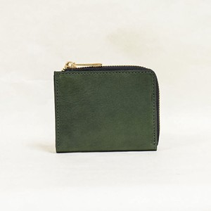 Tochigi Leather Fastener Compact Wallet Green Cow Leather Men's Ladies Green