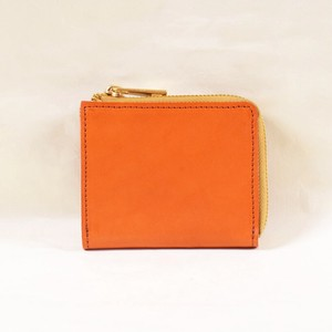 Tochigi Leather Fastener Compact Wallet Orange Cow Leather Men's Ladies Orange