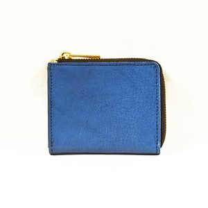 Tochigi Leather Fastener Compact Wallet Cow Leather Men's Ladies Navy