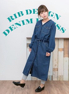 Denim Kishi One‐piece dress.