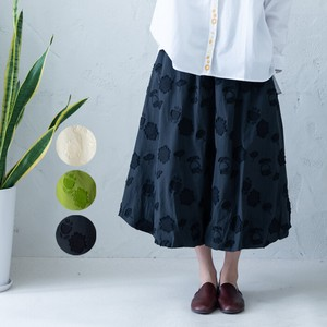 S/S Repeating Pattern Cut Jacquard Balloon Skirt