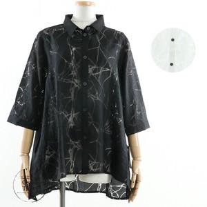 【2020新作】【ミセス】【M〜L】オパール加工Aラインシャツジャケット t602032