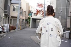 S/S Lip Top Embroidery Shirt Jacket