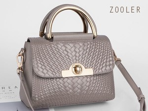 Zoo Ladies Shoulder Bag Handbag Genuine Leather Khaki
