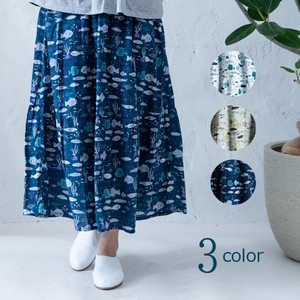 S/S Repeating Pattern Print Skirt
