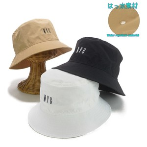Water-Repellent Processing Embroidery Nylon BUCKET HAT Young Hats & Cap
