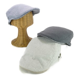 Micro Houndstooth Pattern Flat cap Young Hats & Cap
