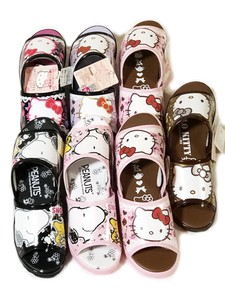 1 Set Character Sandal Assort Kitty Snoopy Sanrio
