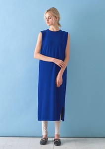 Stretch Rayon Tuck Long One-piece Dress