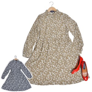 One-piece Dress Ladies Long Sleeve Shirt One Piece Floral Pattern Coat
