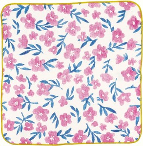 Towel Handkerchief Pink Flower
