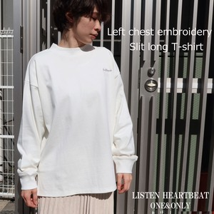 HEART [ 2020NewItem ] Embroidery Long T-shirt
