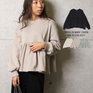 Top Frill Top Flare Sweat Sweatshirt Long Sleeve Color