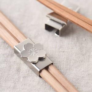 箸留(はしどめ) さくら シルバー[日本製/燕三条/和食器]