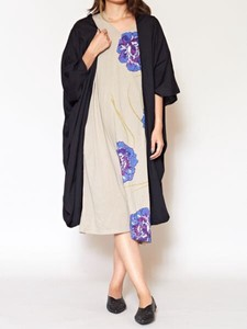 [ 2020NewItem ] Design One-piece Dress Plain Long Cardigan Set