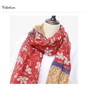[ 2020NewItem ] Mix Color Floral Pattern Print Thin Stole