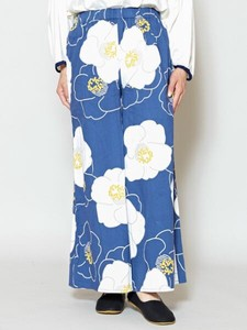 [ 2020NewItem ] Design Flower Pattern wide pants
