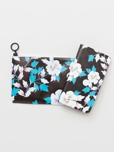 Model Notebook Type Multi Smartphone Case Pouch Attached Flower