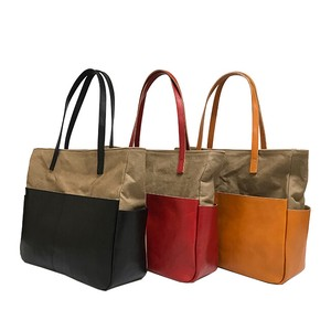 Canvas Cow Leather Bag Closs Tote Bag