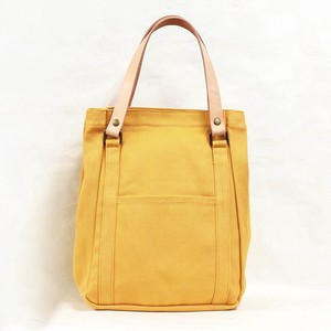 Tochigi Tote Campus Tote Bag Genuine Leather Yellow Men's Ladies Yellow