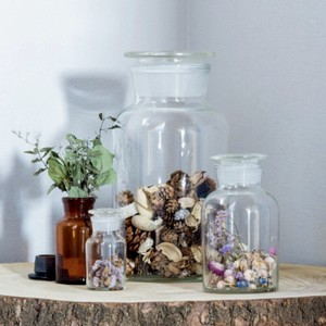 Bottle Ornament Food Product Storage Interior Glass Bottle Decoration Storage