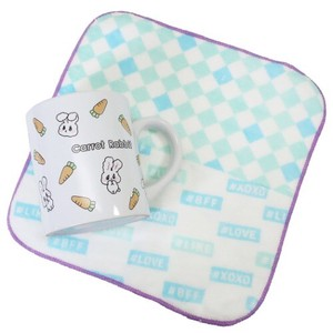 Rabbit Milk Carton Mug Mini Towel Set
