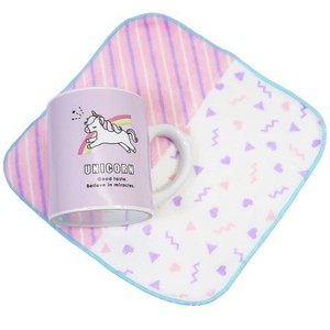 Unicorn Milk Carton Mug Mini Towel Set