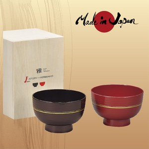J-Story Soup BOWL in Pairs Wooden Boxed