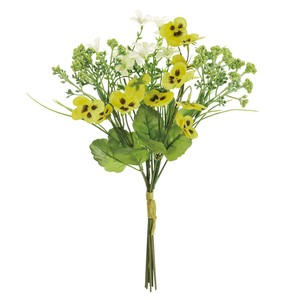 Pansy Bouquet Yellow White Flower Artificial Flower Bouquet