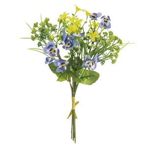 Pansy Bouquet Blue Yellow Flower Artificial Flower Bouquet