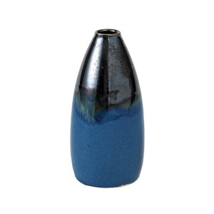 Flower Navy Blue Bronze Blue Flower Vase Base