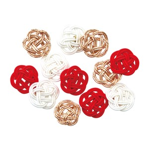 Petit Ume Knot Red And White Mix Decoration Material Mizuhiki Decoration