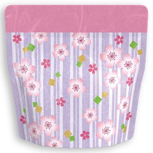 Unryu Aluminium Stand Bag Floral Pattern