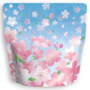 Unryu Aluminium with zipper Stand Bag Sakura