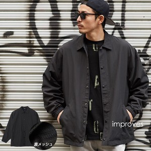 """2020 New Item"" Big Silhouette Coach Jacket Men's Blouson Over Outerwear Zip‐up Jacket"