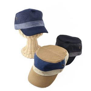 [ 2020NewItem ] Denim Combi Military Cap S/S Hats & Cap