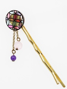 Cloisonne Sten Glass Hairpin