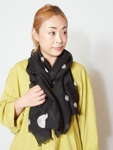 Design Dot Pattern Embroidery Stole