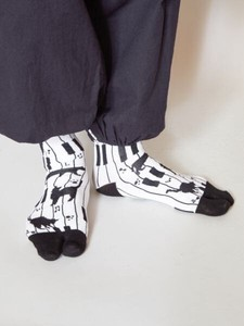 Tabi Socks Sock Piano Cat