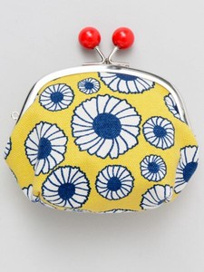 European Style Print Canvas Multi Coin Purse