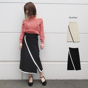 With Line Knitted Skirt
