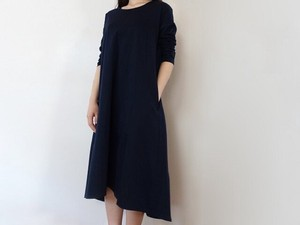 Open Cotton Jersey Relax One-piece Dress