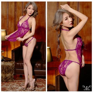 Adult Sexy Babydoll Wine Red