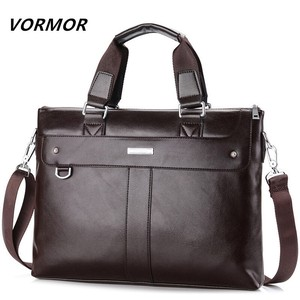Brief Case Men's Brand Leather Vintage Handbag Business Bag