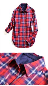 Land Checkered Dress Shirt Ladies