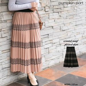 [ 2020NewItem ] Oriental Long Pleats Skirt