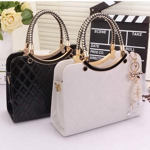 [ 2020NewItem ] Shoulder Bag Brand Ladies Leather Enamel Handbag Messanger Tote