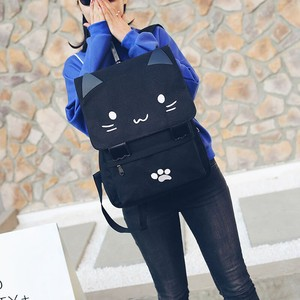 Daypack Backpack Ladies SC Brand High Quality Canvas Cat Backpack