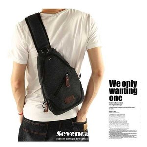 Body Bag Men's Shoulder Bag Canvas Diagonally Bag Body Bag Waist Bag